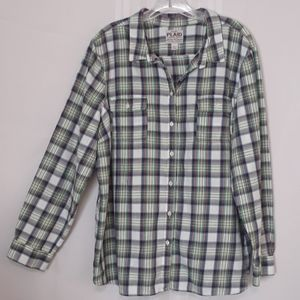 """Old Navy """"Plaid"""" size XXL button front top"""